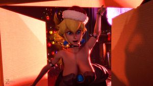: Bowsette and her New Year's gift