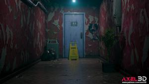 : Tifa Lockhart in Public Toilet