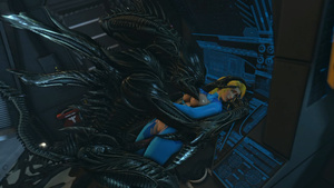 : Samus on a Strange Alien Planet