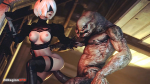 : 2B-Whore For Monster: Part 1