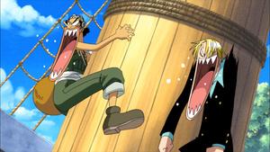 Keitaro_XP: One Piece: La maldición de la espada sagrada